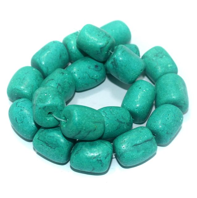 20+ Synthetic Stone Tyre Beads Turquoise 20x18 mm