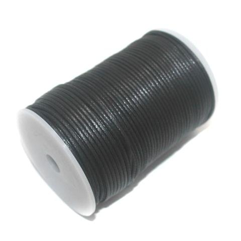 100 Mtrs. Jewellery Making Cotton Cord Black 2mm