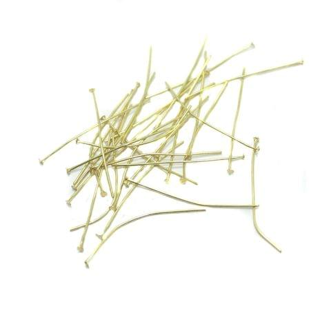 500 Pcs. Brass Golden Head Pins 1.5 Inch