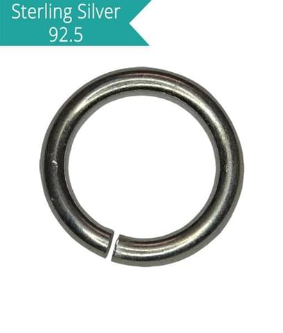 Sterling Silver 6mm Open Jump Rings