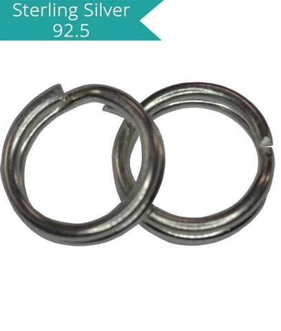 Sterling Silver 6mm Split Rings
