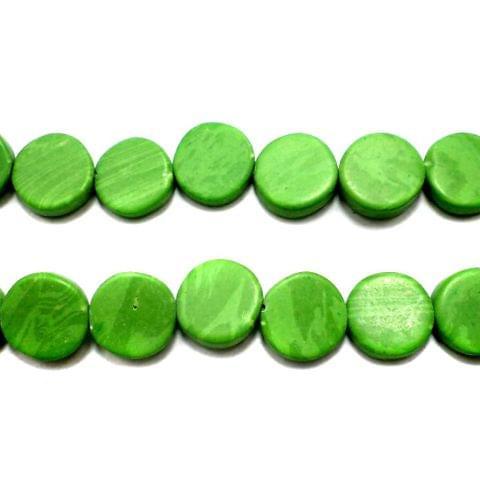 1 Strings Semiprecious Disc Beads Peridot 10 mm