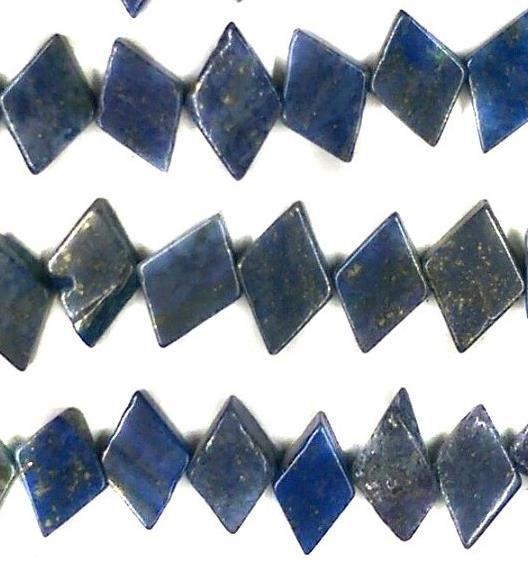 1 Strings Semiprecious Stone Tite Beads Blue 11x7 mm