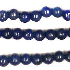 1 Strings Semiprecious Stone Round Beads Blue 5 mm