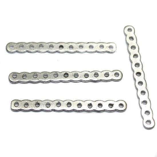 50 Silver Finish Spacer 11 Hole 1.5 Inch