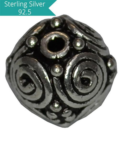 Sterling Silver Round Rava Bead
