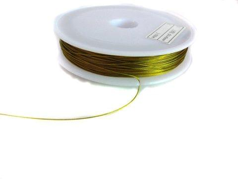 100 Mtrs. Jewellery Making Metal Beading Golden Wire 0.45 mm
