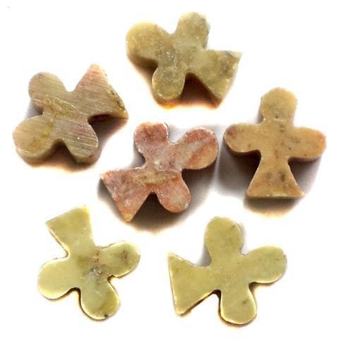 48 Pcs. Soap Stone Leaf Beads 12x10 mm