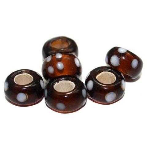 20 Pandora Beads Brown 8x14mm