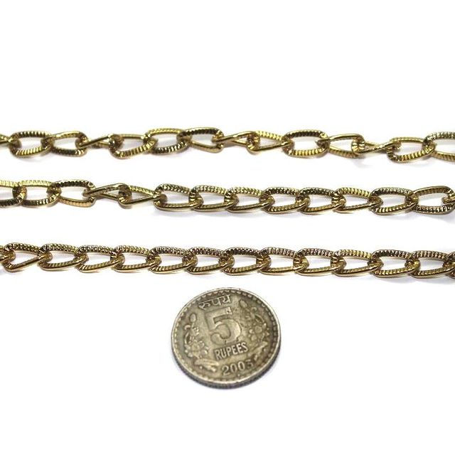 Metal Chain Golden 1 Mtr