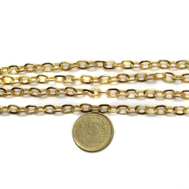 Metal Chain Golden 1 Mtr.