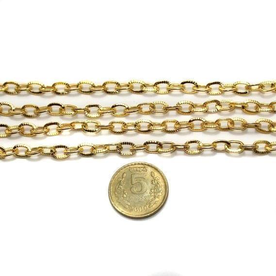 Metal Chain Golden 1 Mtr.
