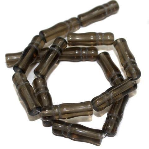 5 Strings Glass Beads Imam Grey 8x24 mm
