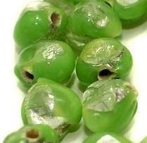 250 Millefiori Round Beads Peridot 10 mm