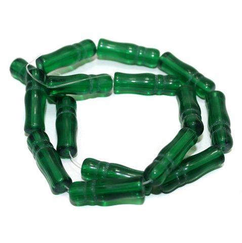 5 Strings Glass Beads Imam Green 8x24 mm