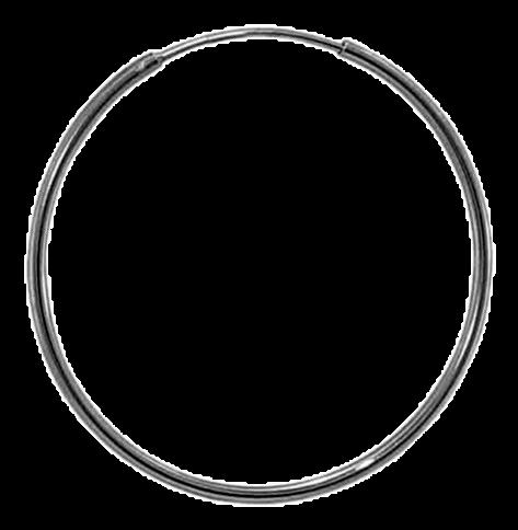 92.5 Sterling Silver 18mm Round Hoop Earrings