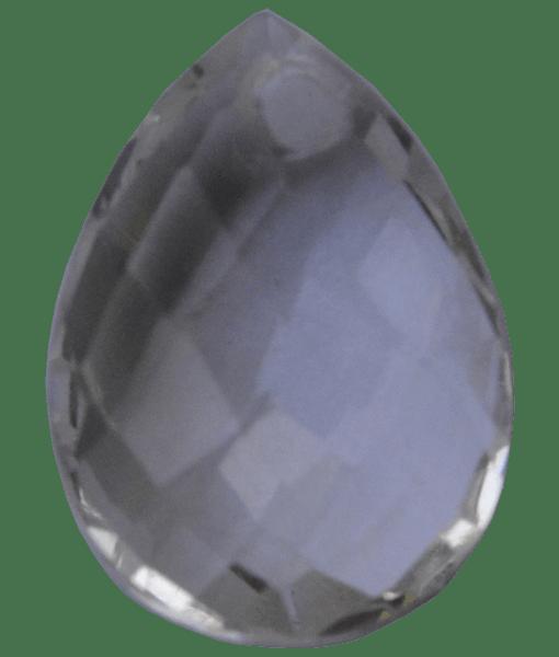 Briolette Faceted Crystal Quartz Drop