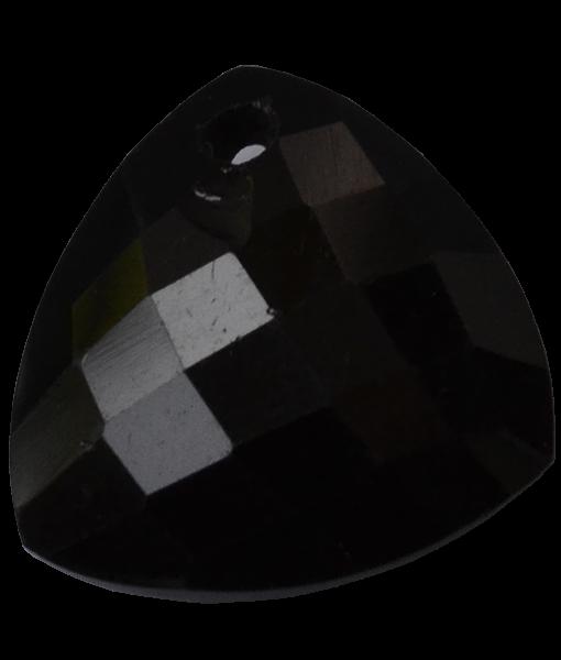 Briolette Faceted Black Onyx Trillion