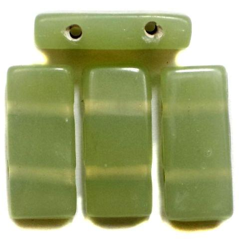 10 Spacer Ractangle Beads 2 Hole Olive Green 24x10mm