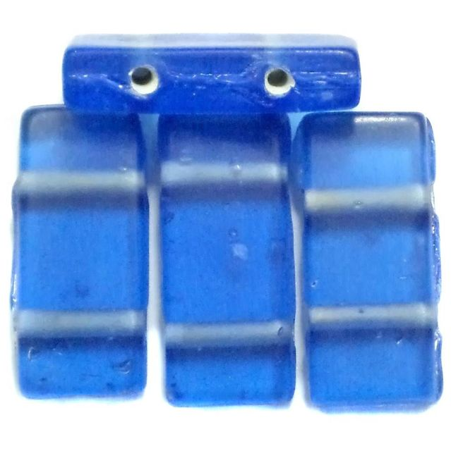10 Spacer Ractangle Beads 2 Hole Blue 24x10mm