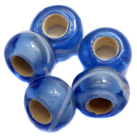 10 Pandora Beads Blue 8x14mm