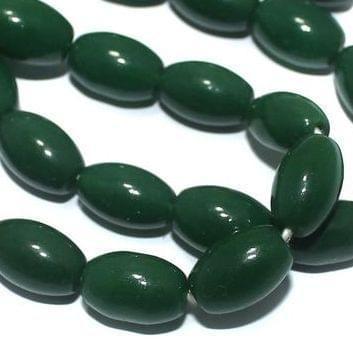 Jaipuri Beads Light Green Oval 5 Strings 13x8mm