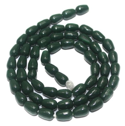 Jaipuri Beads Green Drop 5 Strings 6x4mm