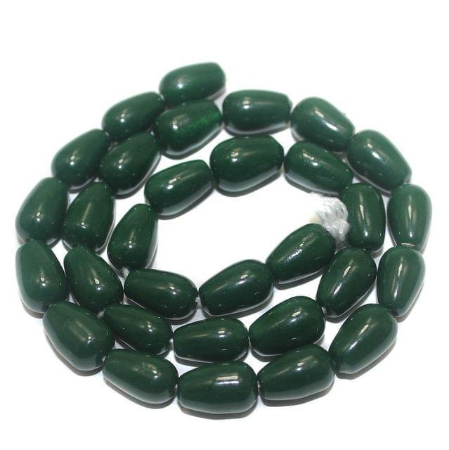 Jaipuri Beads Green Drop 5 Strings 13x8mm