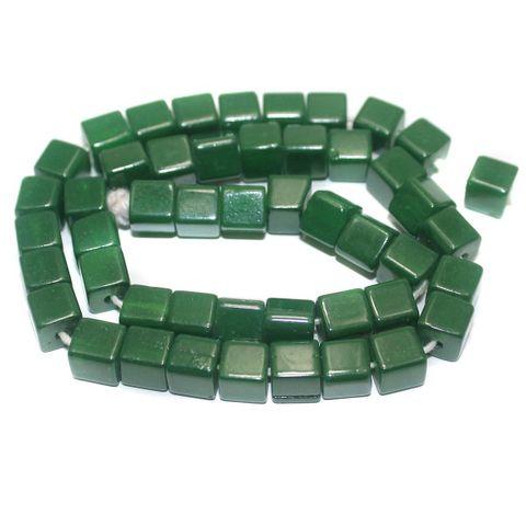 Jaipuri Beads Green Cube 5 Strings 8mm