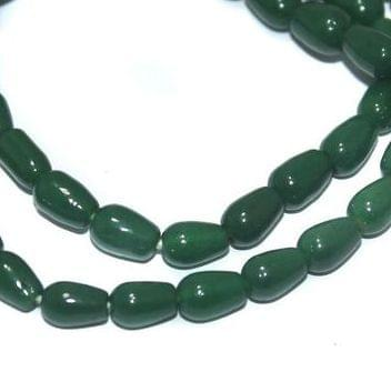 Jaipuri Beads Light Green Drop 5 Strings 6x4mm