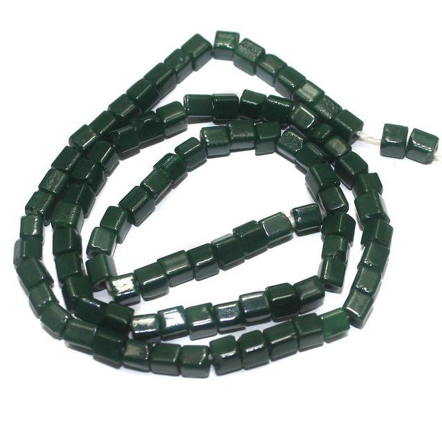 Jaipuri Beads Green Cube 5 Strings 4mm