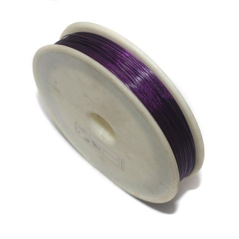 100 Mtrs. Metal Beading Wire Purple 0.45