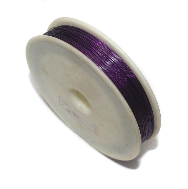 100 Mtrs. Metal Beading Wire Purple 0.45