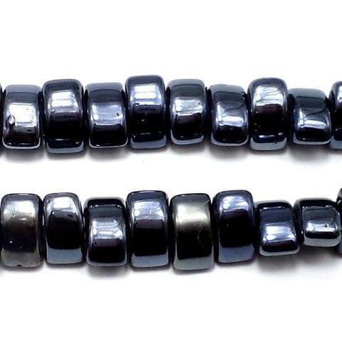 5 Strings Gun Metal Pedal Beads 13x9mm