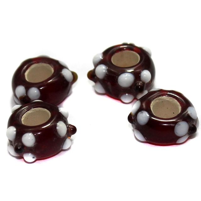 10 Pandora Beads Red 8x14mm