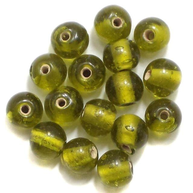280+ Glass Round Beads Green 6mm