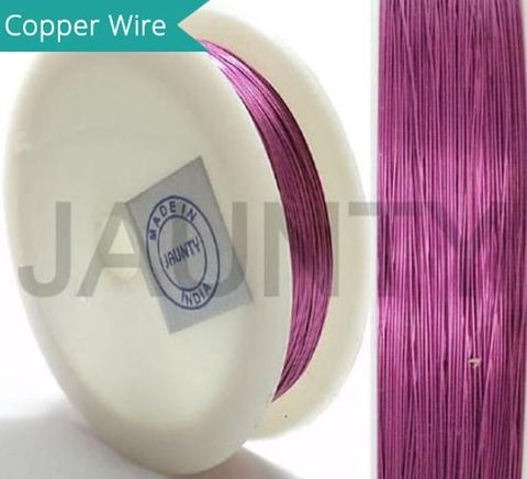35 Mtrs. Jewellery Making Copper Wire Pink 0.28