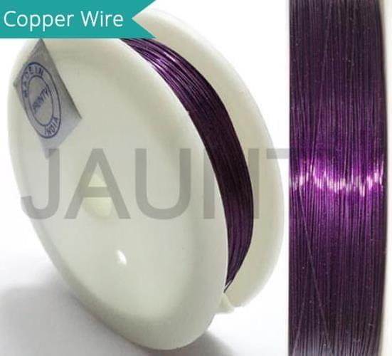 35 Mtrs. Jewellery Making Copper Wire Purple 0.28