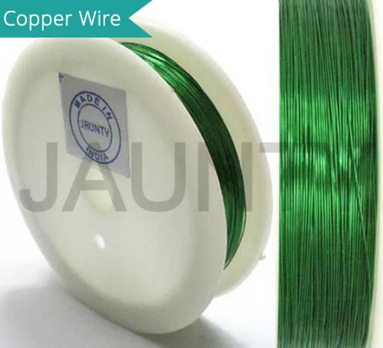35 Mtrs. Jewellery Making Copper Wire Green 0.28