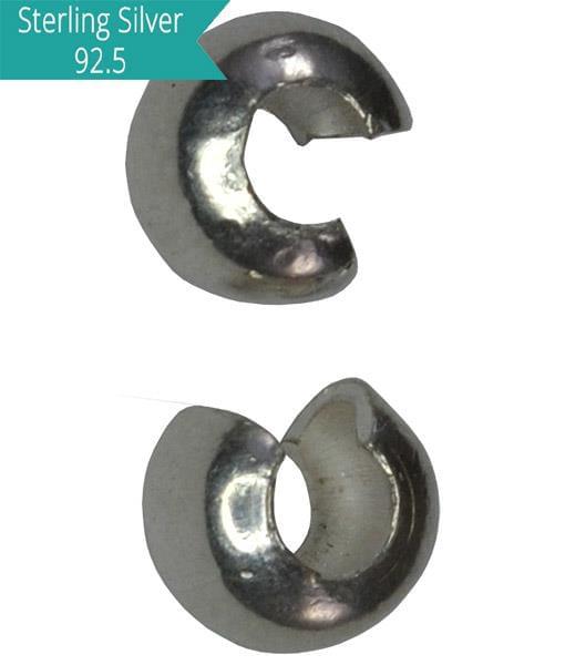 925 Silver 2.5mm Crimp Cover