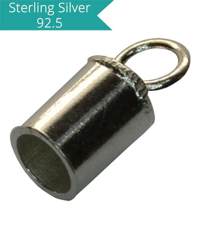 925 Silver 3.2mm Inner Diameter Cord Ends