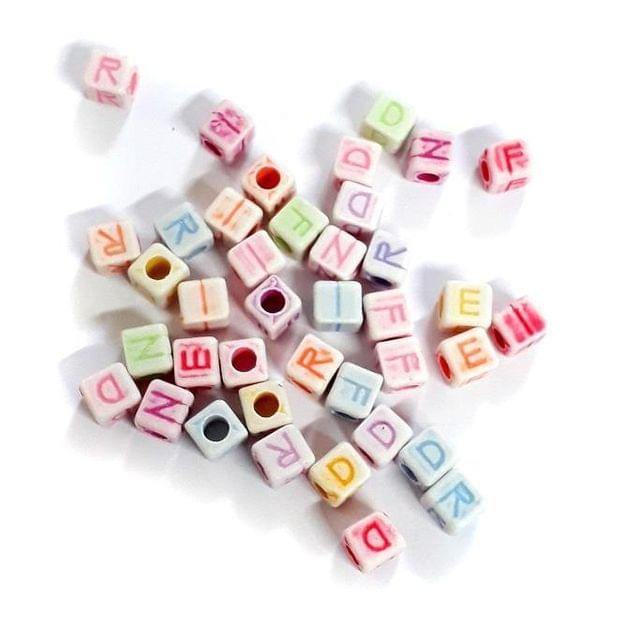 225+ Friend Alphabet Beads Assorted 8mm