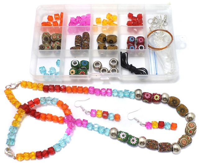 Jewellery Making Acrylic And Lac Beads DIY Kit