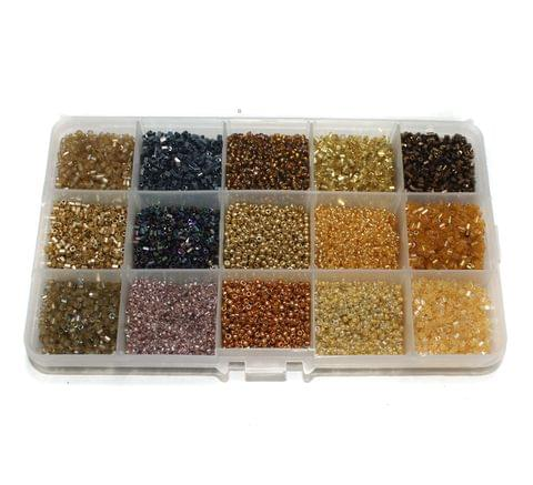 Jewellery Making Seed Beads Shades Of Earthy Color Tones Kit[15 Colors]