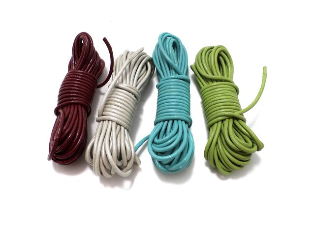 4 Leather Cord Combo Assorted 2mm
