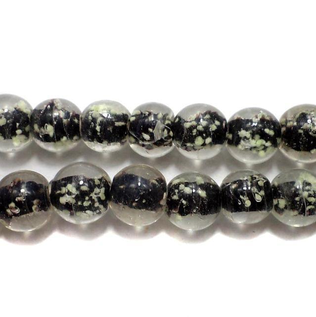 5 strings Radium Round Beads Black 10mm