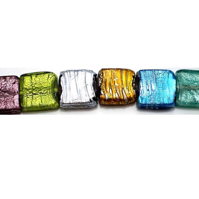 20+ Silver Foil Candy Beads Assorted 20mm
