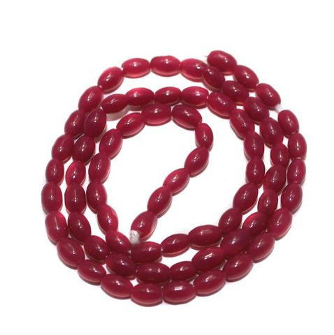 Jaipuri Beads Pink Oval 5 Strings 3mm