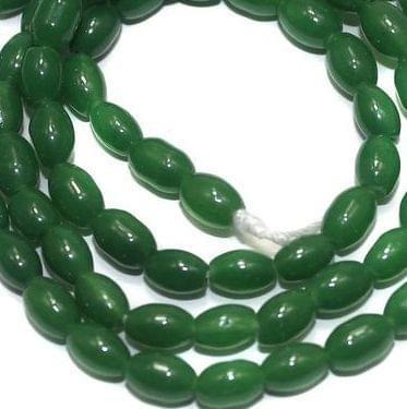 5 Strings of Jaipuri Oval Beads Light Green 3mm
