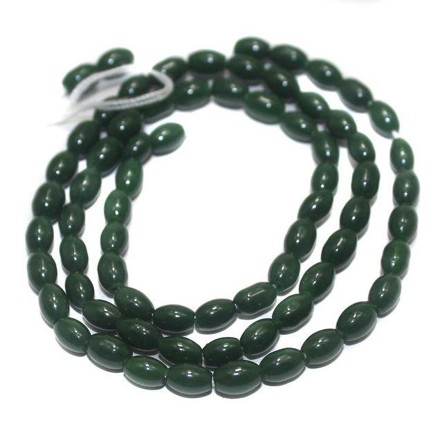 Jaipuri Beads Green Oval 5 Strings 3mm